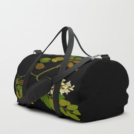 Robinia Pseudacacia Paper Flower Collage Vintage Botanical Floral Art Mary Delany Duffle Bag