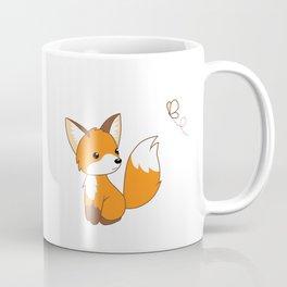 Cute Little Fox Watching Butterly Coffee Mug