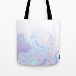Liquid Pastel Marble Ombre 1. lilac, nude and aqua #pastelvibes #homedecor #buyart Tote Bag