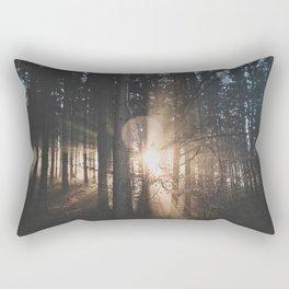 Sun Rays through Trees Rectangular Pillow