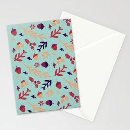 Avis Walnut Peanut Flower Pattern Stationery Cards
