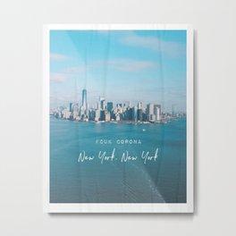 New York FCUK Metal Print