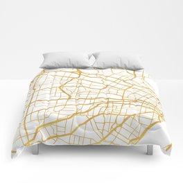ST. LOUIS MISSOURI CITY STREET MAP ART Comforters
