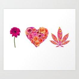 i Heart Pot Leaf Art Print