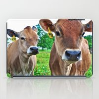 cows iPad Cases featuring Cows by Chris Klemens