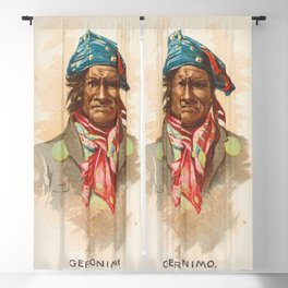 Geronimo, Apache, from the American Indian Chiefs series (N2) for Allen & Ginter Cigarettes Brands,1 Blackout Curtain
