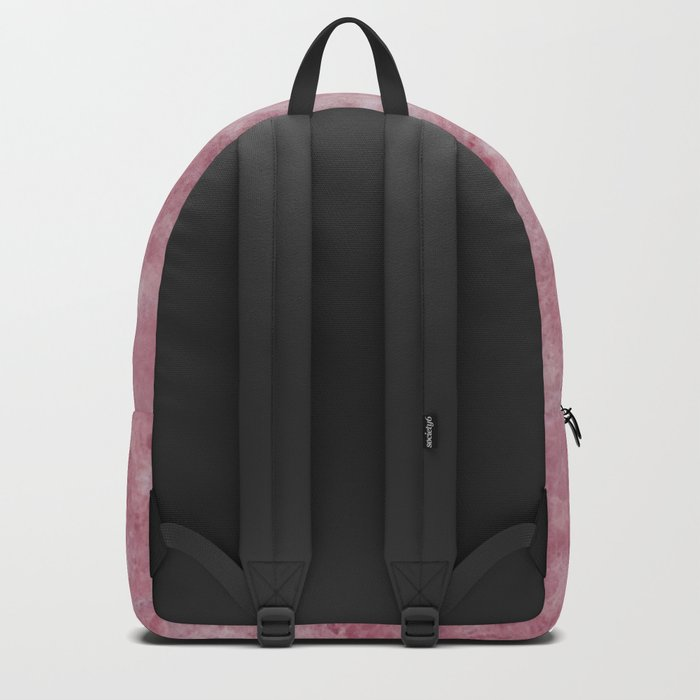 Deep Pink Water Marble Backpack
