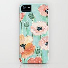 Poppies by Lindsay Brackeen iPhone Case
