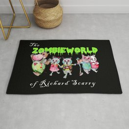 The Zombie World of Richard Scarry Rug