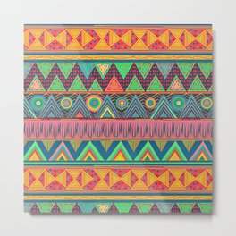 Tribal Ethnic (candy colors) Metal Print