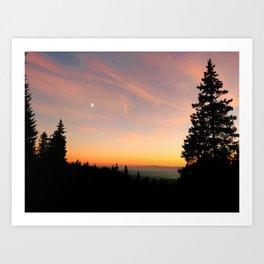 Sunset in Harghita Mountains Art Print