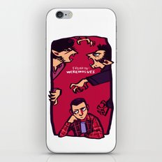 Teens and Wolves iPhone & iPod Skin