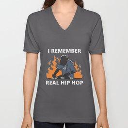 I Remember Real Hiphop Unisex V-Neck
