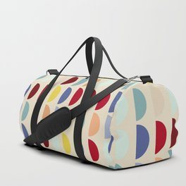 Semi circles multicolor geometric interior design Duffle Bag
