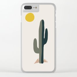Cactus and the Rising Sun Clear iPhone Case
