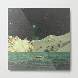 Floated with Nebula Metal Print