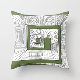 Totem-ish Throw Pillow