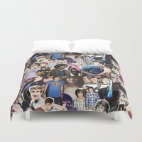 liam payne Duvet Covers featuring Liam Payne - Collage by Pepe the frog