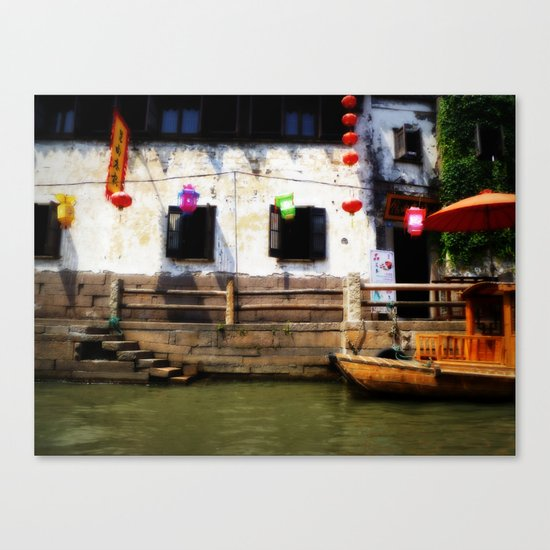 Suzhou Canals Canvas Print