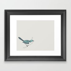 Blue Bird Framed Art Print