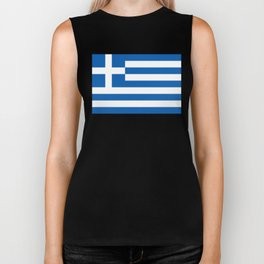 Flag of Greece, High Quality image Biker Tank