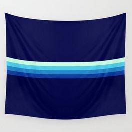 Nagayasu - Classic Maritime Blue Minimal Retro Stripes Wall Tapestry