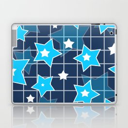 Light blue stars Laptop & iPad Skin