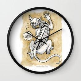 Lying Cat Wall Clock