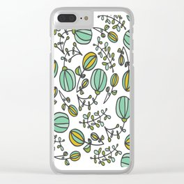 Flowing Floral Clear iPhone Case