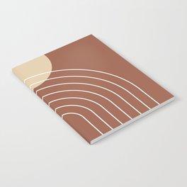 Mid Century Modern Geometric 3 (Terrocatta and beige) Notebook