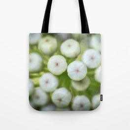 Wht-flowered Milkweed Tote Bag