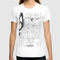 memphis T-shirts featuring Memphis Map Gray by City Art Posters