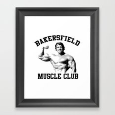 Muscle club Framed Art Print