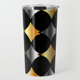 Aluminum and gold stitched textures Travel Mug