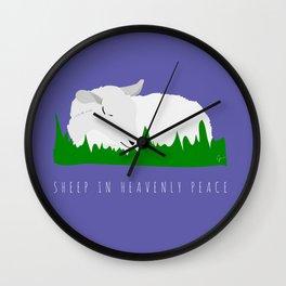 Sheep in Heavenly Peace Wall Clock