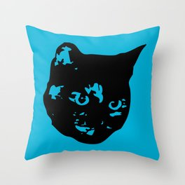 Tortoiseshell Kitty Throw Pillow