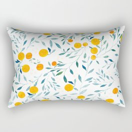 Orange Tree Rectangular Pillow