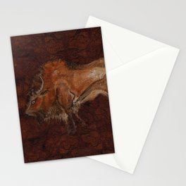 Paleolithic Bison Cave Painting Stationery Cards