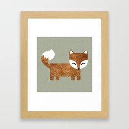 Box Fox Framed Art Print