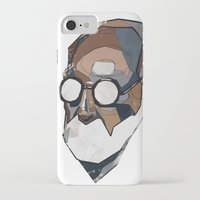 freud iPhone & iPod Cases featuring Freud by PAFF