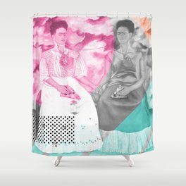 Pizza Kahlo Shower Curtain