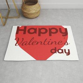 Happy Valentines day Rug