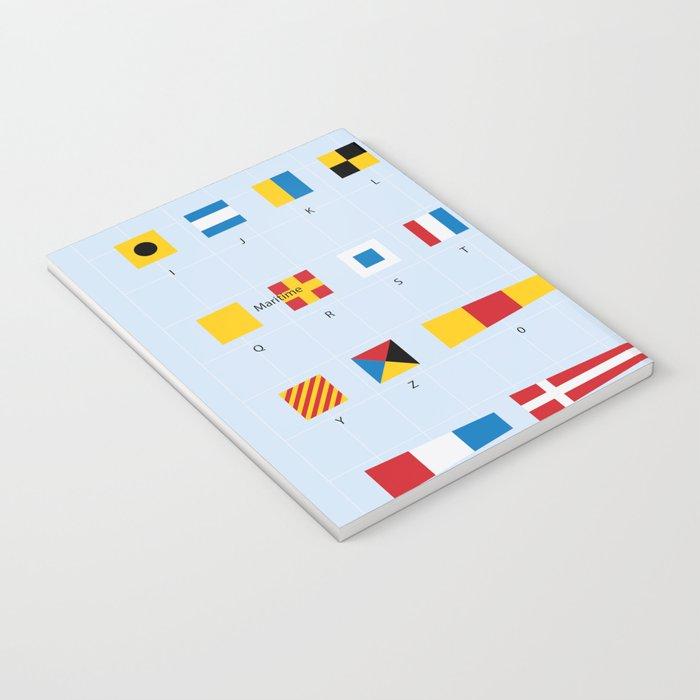 Maritime Signal Flags Poster Notebook