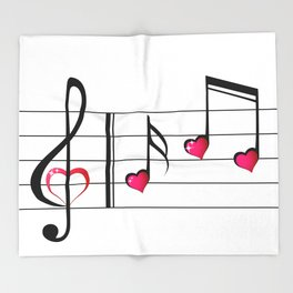 Music love concept Throw Blanket