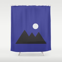 Giza Geometrical Minimal Shower Curtain