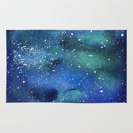 Galaxy Space Sky Watercolor Cosmic Art Rug