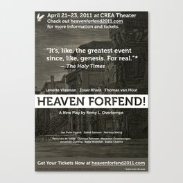 """Heaven forfend!"" Official Poster Canvas Print"