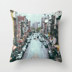 NYC Chinatown Throw Pillow