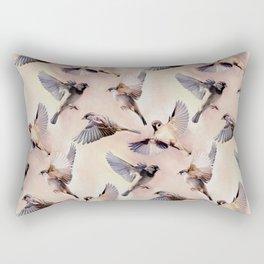 Sparrow Flight Rectangular Pillow