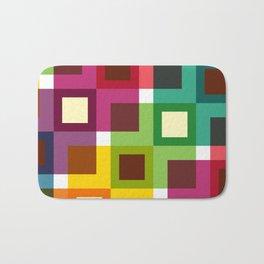 Geometric Pattern #11 (Colorful squares) Bath Mat